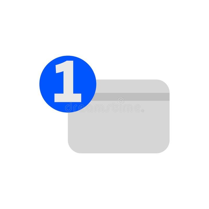 Jeden numerowa kredytowej karty mieszkania ikona royalty ilustracja
