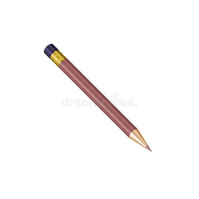 jeden ołówek royalty ilustracja