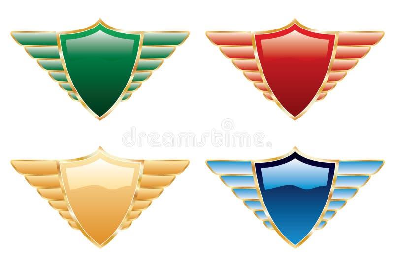 jeden osłony skrzydło royalty ilustracja