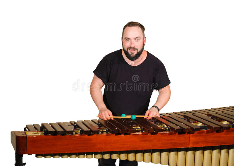 Jeden perkusja gracz obraz stock