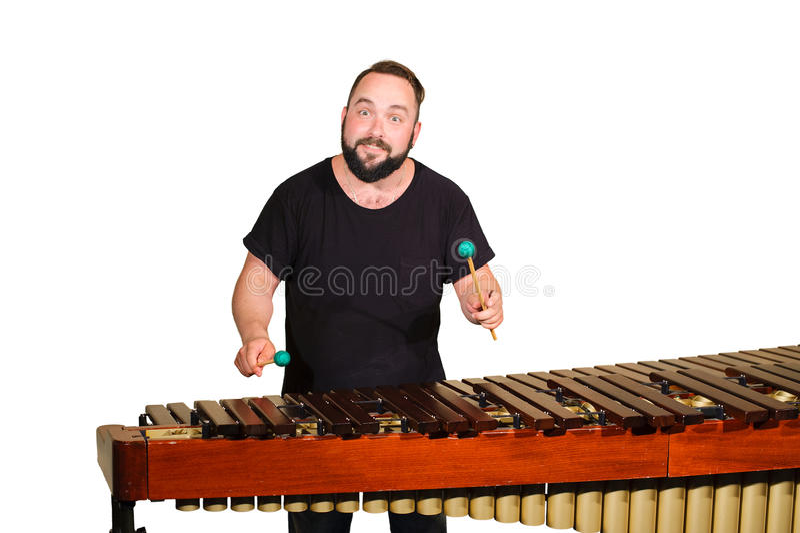 Jeden perkusja gracz fotografia stock
