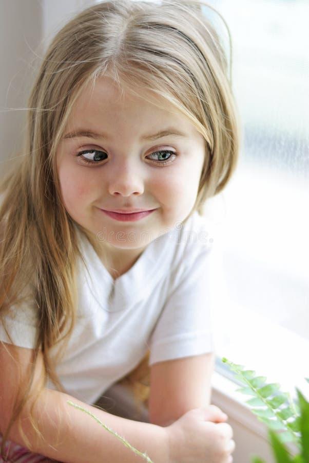 Jeden piękna mała dziewczynka zdjęcie stock