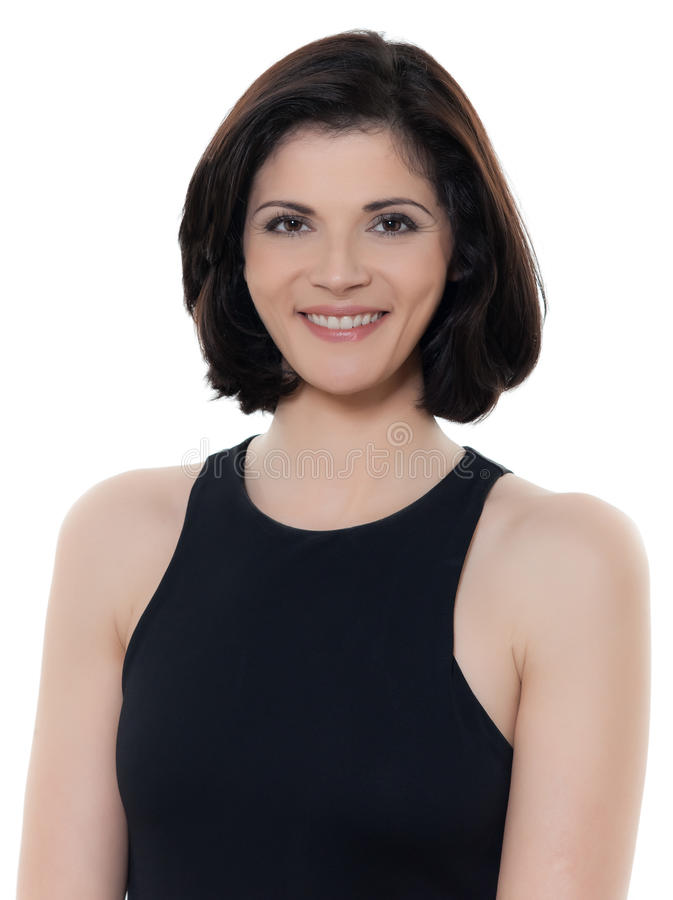 Piękny uśmiechnięty caucasian kobieta portret fotografia royalty free