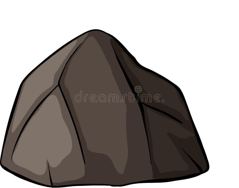 Jeden popielata skała ilustracja wektor