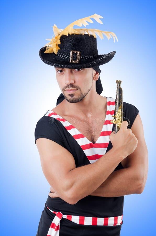 Jeden przyglądający się pirat fotografia stock