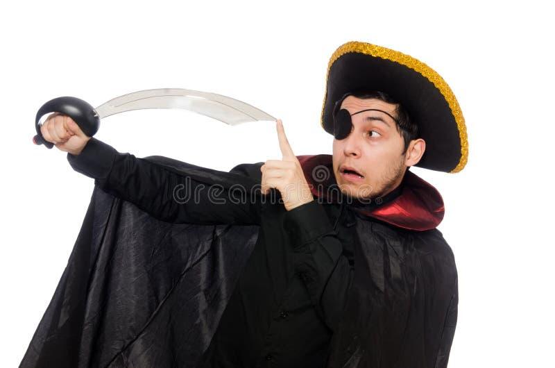 Jeden przyglądający się pirat z kordzikiem zdjęcia stock