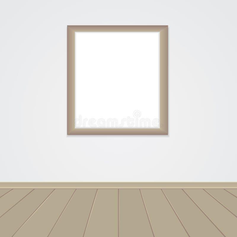 Jeden pusta rama na ścianie ilustracji