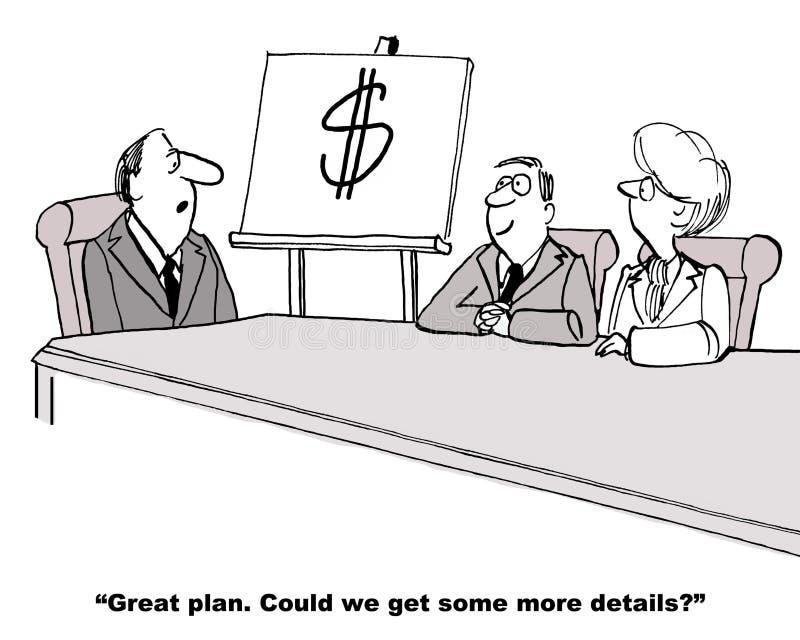 Jeden słowo plan biznesowy ilustracji