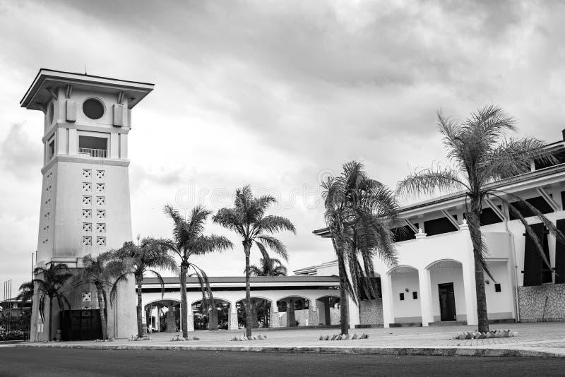 Jeden sale konferencyjne przy Montego Bay konwencji Centre w Jamajka i wierza fotografia stock