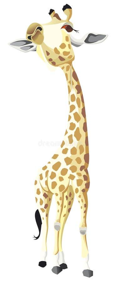 Jeden samotna żyrafa w kolorze ilustracji
