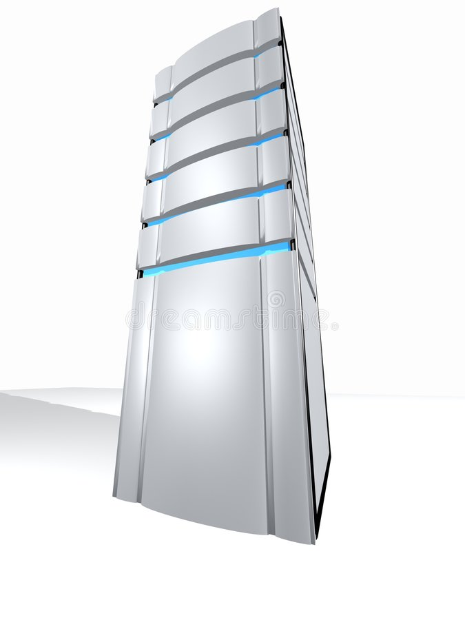 jeden serwer ilustracji