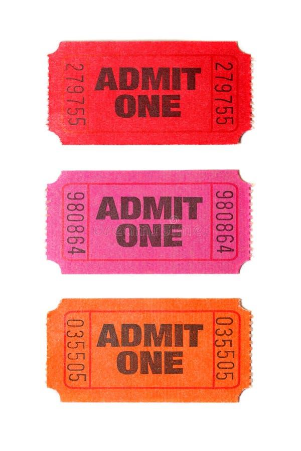 jeden się trzy bilety obrazy stock