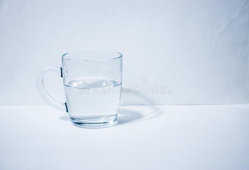 Jeden szkło z wodą zdjęcie royalty free