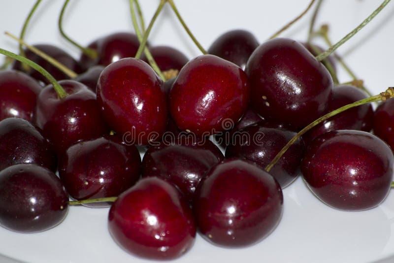 Jeden today's najwięcej popularnych deserowych owoc, wiśnie umieszcza w wierzchołka 20 foods z wysoką koncentracją przeciwutlen obrazy stock