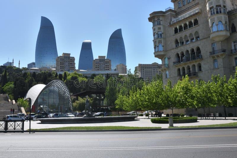 Jeden typ miasto Baku zdjęcie royalty free