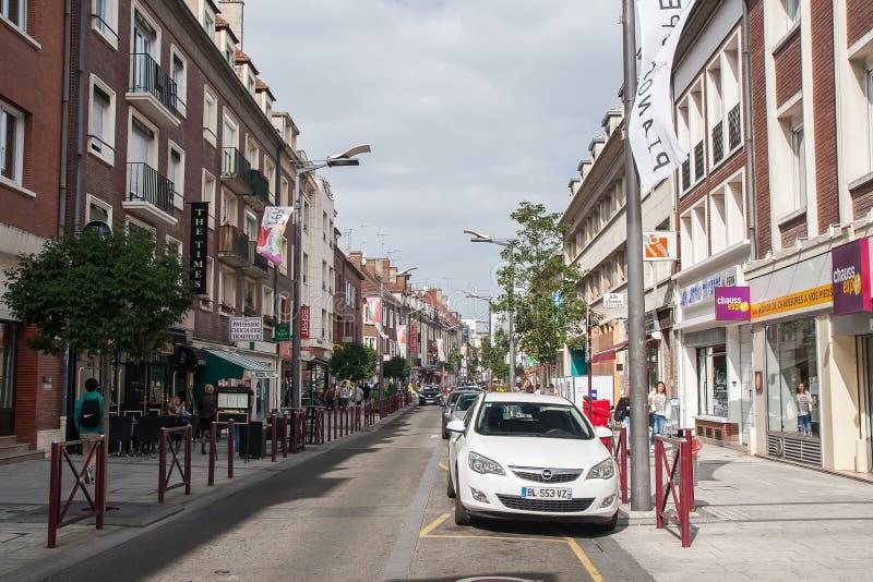 Jeden ulicy miasto Beauvais zdjęcia stock