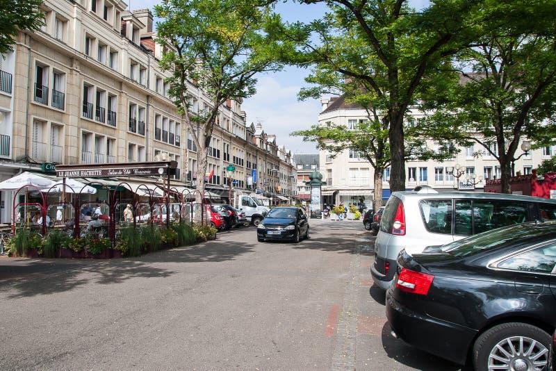 Jeden ulicy miasto Beauvais obraz royalty free