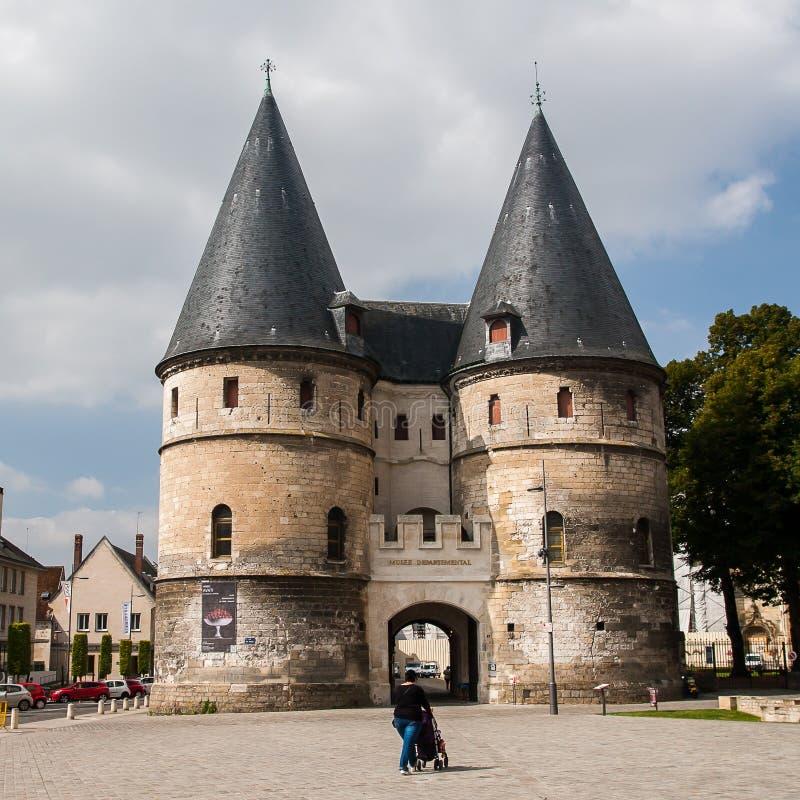 Jeden ulicy miasto Beauvais fotografia royalty free