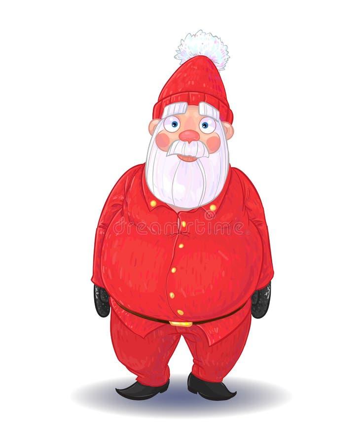 Jeden wersje stary Święty Mikołaj ilustracji