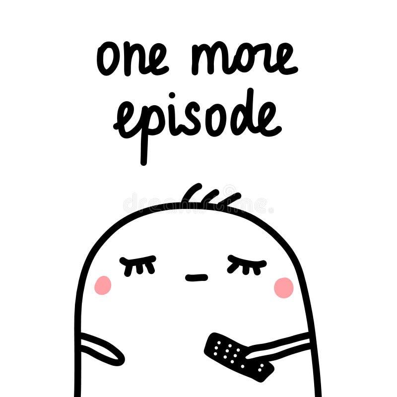Jeden więcej epizod ręka rysująca ilustracja z ślicznym marshmallow dla druków plakatów sztandarów t koszula grępluje notatniki royalty ilustracja