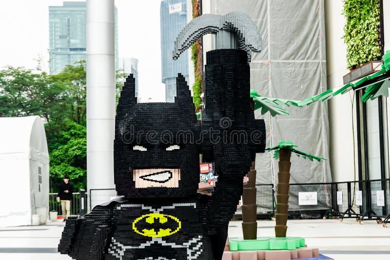 Jeden wiele lego BATMAN ustalony film, Lego jest linią plastikowe budów zabawki które fabrykują Lego grupą fotografia royalty free