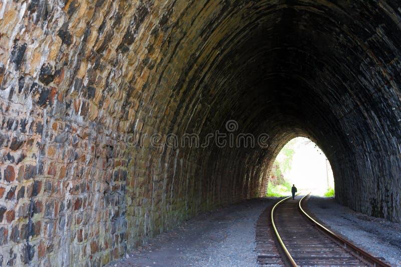 Jeden wiele tunele 83 metru tęsk, buduje w 1904 na Baikal kolei zdjęcie stock