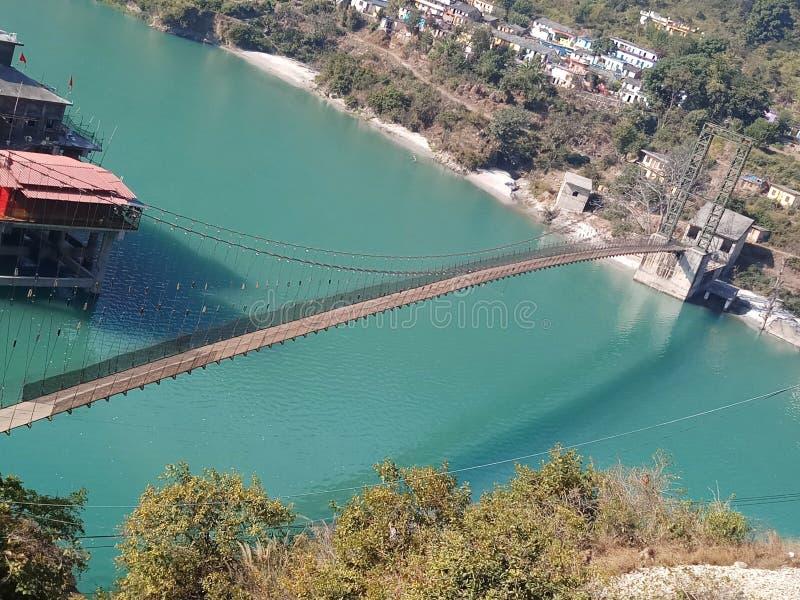 Jeden zadziwiający most z otaczającymi rzeczami obrazy royalty free