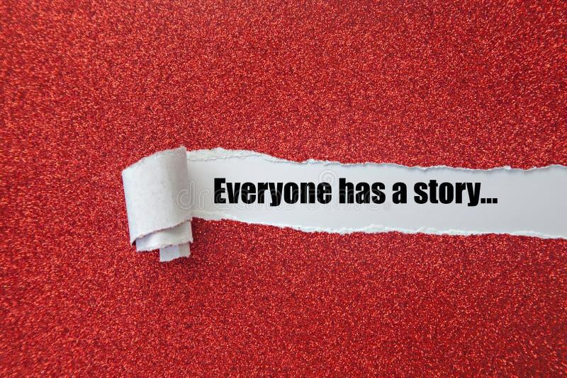 Jeder hat eine Geschichte stockbilder