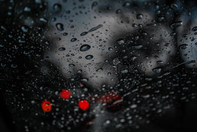 Jeder Regentropfen ist ein Gedächtnis stockbild
