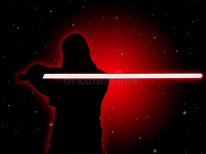 Jedi avec le sabre léger illustration libre de droits