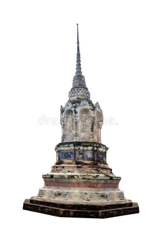 Jedi at Chainat, Thailand isolated. On white stock photo