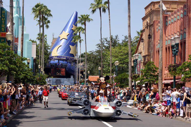 Jedi Mickey Mouse durante Star Wars Weekends 2014 foto de stock royalty free