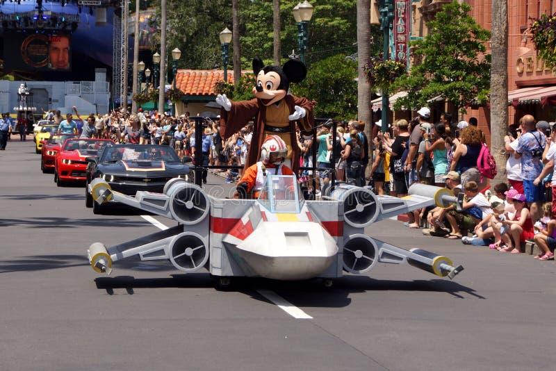 Jedi Mickey Mouse podczas Star Wars weekendów 2014 zdjęcie stock