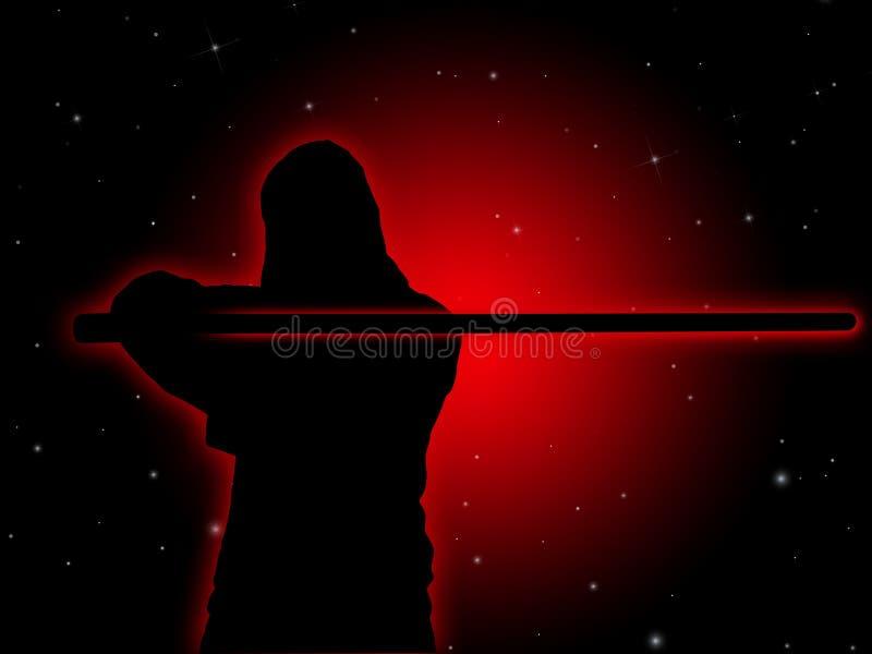 Jedi mit hellem Säbel #2 lizenzfreie abbildung