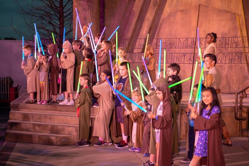 Jedi rycerza doświadczenie, Disney World, podróż, Hollywood studia fotografia stock