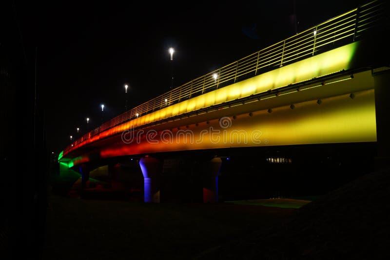 Jedlik Anyos Bridge in Gyor royalty free stock photography