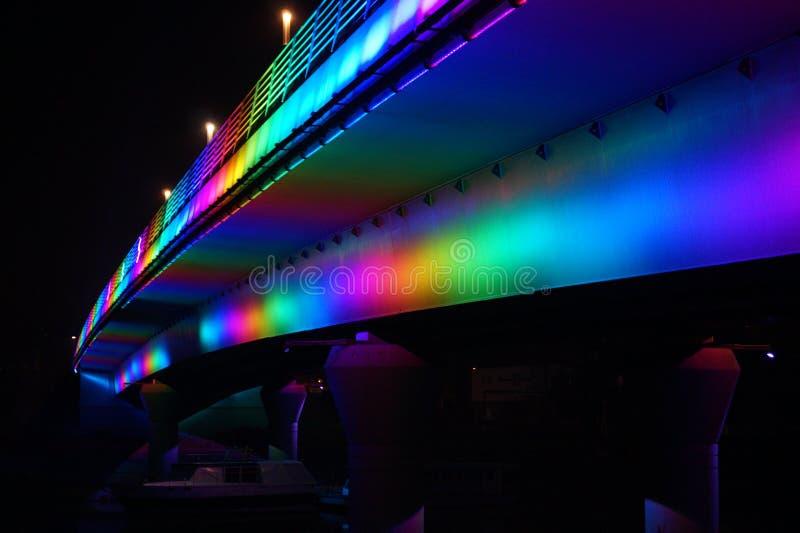 Jedlik Anyos Bridge in Gyor royalty free stock photo