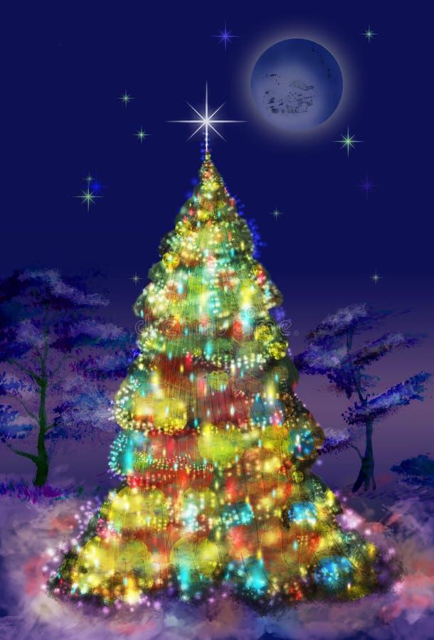 jedlinowy Bożego Narodzenia drzewo ilustracji