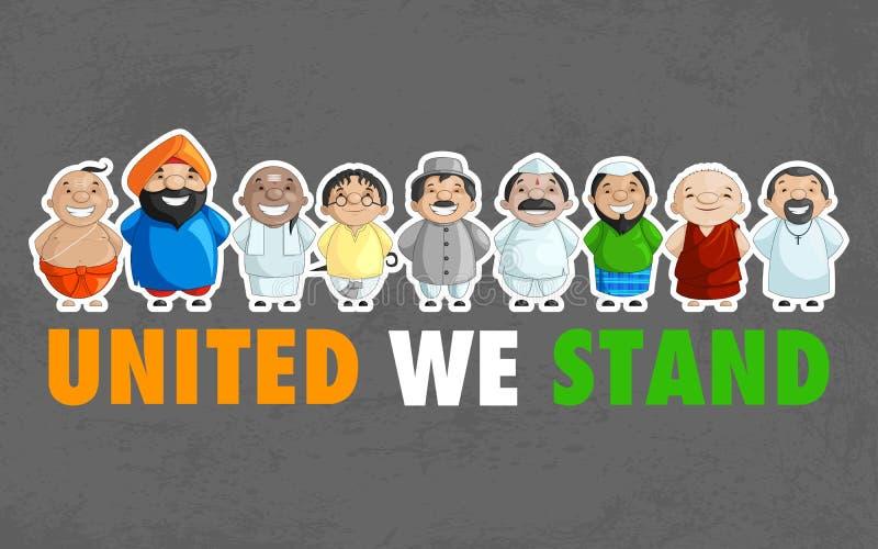 Jedność India royalty ilustracja