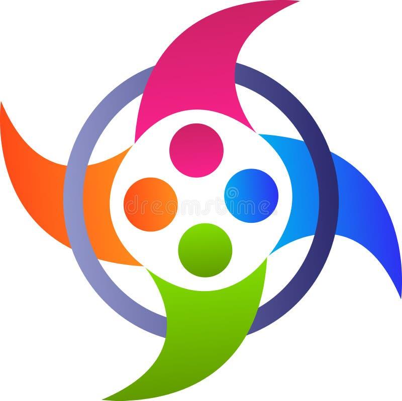 Jedność logo ilustracji