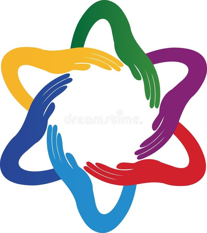 Jedność ręki royalty ilustracja