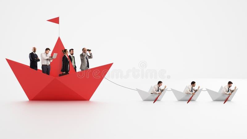 Jedność siłą jest Pracownicy które robią firmy iść naprzód Pojęcie praca zespołowa i sojusz świadczenia 3 d obrazy royalty free