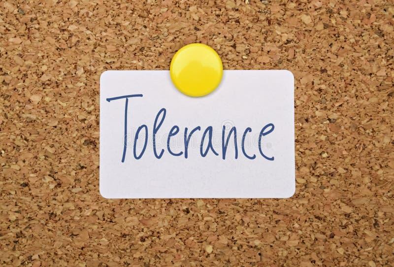 Jedno słowo tolerancja zdjęcia royalty free