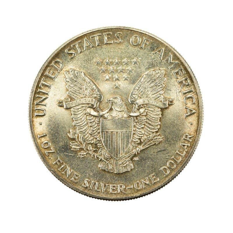 1 jednocząca stanu srebnego dolara monety 1988 odwrotność zdjęcia royalty free