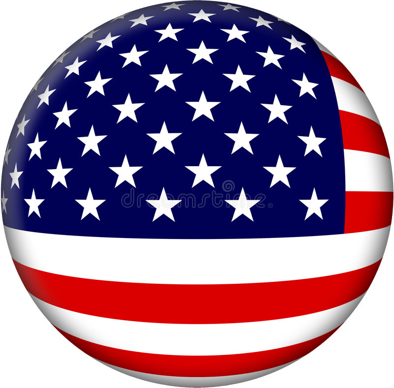 jednoczący chorągwiani America stan royalty ilustracja