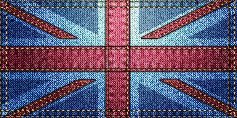 jednoczący królestwo chorągwiany patchwork ilustracji