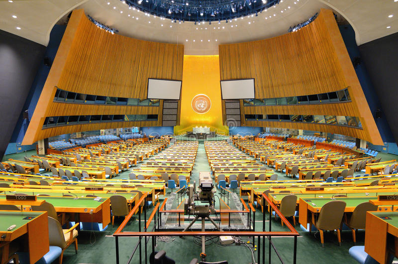 jednoczący ogólny zgromadzenie narody zdjęcie stock