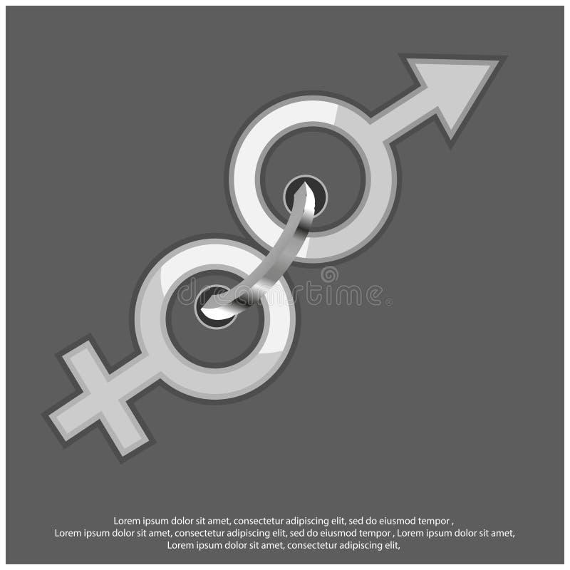 Jednoczy mężczyzn i kobiet, Wektorowy ilustracyjny pojęcie dla miłości ilustracja wektor