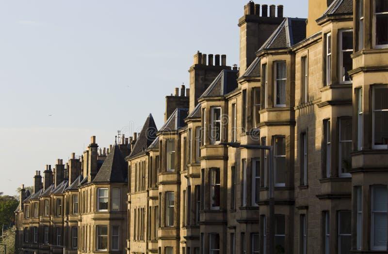 Jednolitość domy w Brytania, Szkocja fotografia stock