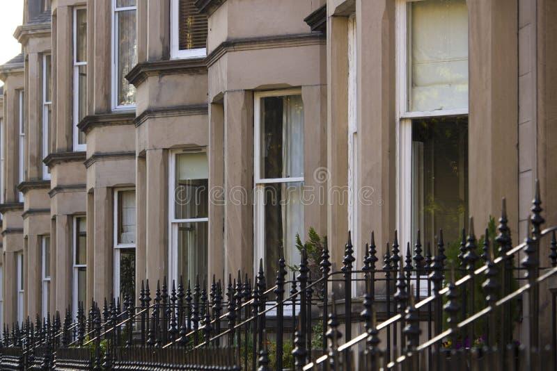 Jednolitość domy w Brytania, Szkocja zdjęcie stock